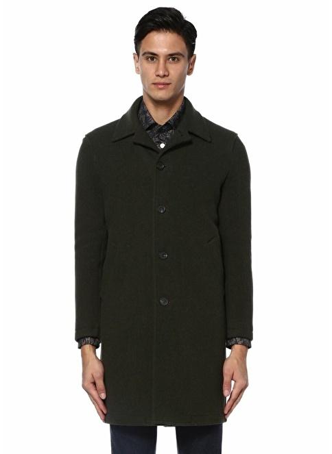 Copper Klasik Yün Palto Haki